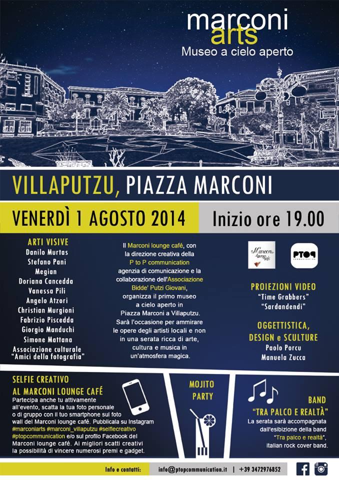 """Locandina della manifestazione """"Marconi Arts"""""""